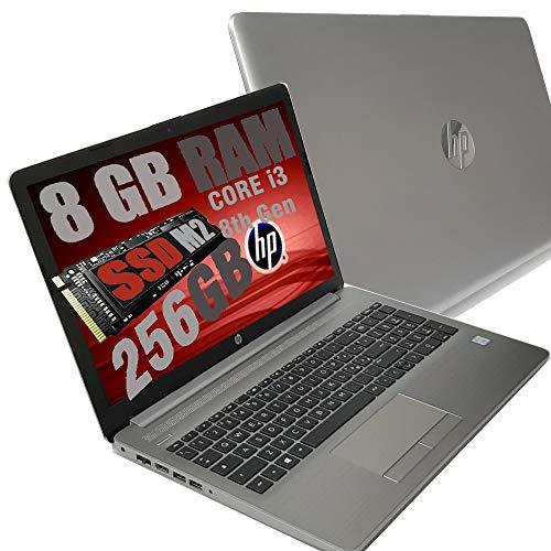 Notebook HP I3 250 G7 Silver Portatile Display HD 15.6  Cpu Intel 8Th Gen i3-8130U Fino a 3,4Ghz  Ram 8Gb DDR4  SSD M2 NVME 256GB  VGA UHD 620  Hdmi Dvd SD Card Wi-fi  Windows 10 pro + Open Office
