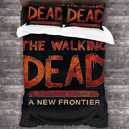 Juego de funda nórdica The Walking Dead,suave, cómodo, duradero, delicado con la piel, cremallera oculta, fácil de limpiar