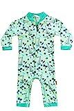 Baby Long Sleeve Green Surfboard Beach Swimwear Boy One-Piece Sailboat Swimsuit Sun Protection Rash Guard 12-18 Months
