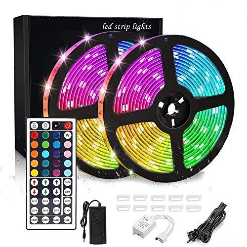 Strisce LED Luci 10m IP65 impermeabile 44 tasti telecomando IR 5050 strisce 12V luce RGB con 20 colori 12 modalità for esterno domestico Decoration2times; 5 M WDDT