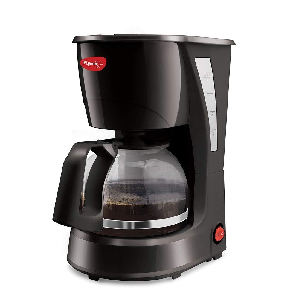 Pigeon by Stovekraft Brewster Coffee Maker. A Small Size Coffee Maker of Home Machine (Black)