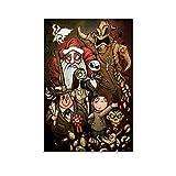Ghychk The Nightmare-Before-Christmas Jack Skellington Sally - Pintura impermeable para decoración de pared, carteles para habitación de los niños, 40 x 60 cm