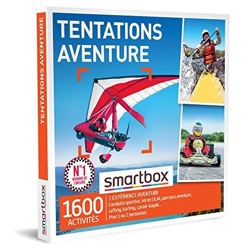 SMARTBOX - coffret cadeau couple - Fête des Pères - Tentations aventure - idée cadeau originale - 1 aventure à vivre pour 1 ou 2 personnes
