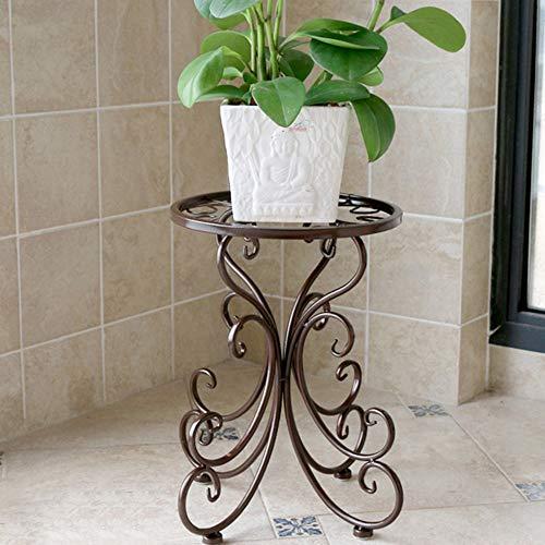 Nordique Simple Moderne Fer forgé Fleur Stand étage Balcon Salon Multifonctions Rack Plante présentoir 34 * 25 cm (Couleur : Chocolat Couleur)