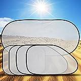 Jkhhi Auto Sonnenschutz Sonnenschutzblende Autofenster Sonnenblende Frontscheiben Seitenfenster Heckscheibe Fenster Hitzeschutz