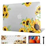 VAESIDA MacBook Pro 13 Inch Case, Sunflower Laptop Hard Shell Cover Floral Case ONLY for Old Mac Pro 13 Retina Model A1502/A1425 (2012-2015 Release) with Keypad Cover & Screen Protector (Flower 1)