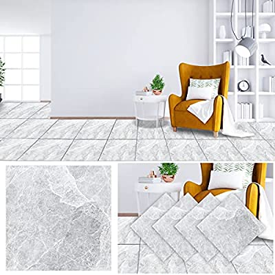 """Goging 11.8""""x11.8"""" Vinyl Flooring Peel and Stick Marble Floor Tiles Backsplash Tile, Marble Vinyl Paper for Furniture Cover Surface, Countertop,Kitchen,Bathroom Wall Decor Marble Pattern (4 Pack)"""