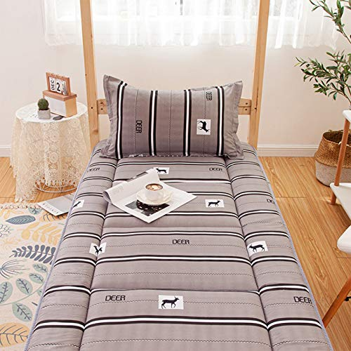 MYYU Cotone Non-Scivolare Sleeping Pad,Trapuntato Pieghevole Roll Up Materasso Tradizionale Giapponese Materassi Letto Futon Tatami Tappetino,G,150x200cCM