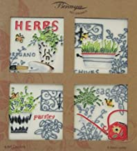 Herbs Coasters Set of 4 Benaya Art Tiles Contemporary Wall Tile Picture Plaque It?s As If They Are Alive With Detail Bold Colours A Perfect Decorative Fathers Mothers day Gift Birthday Present Purchase