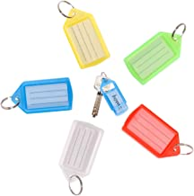 VIC VSEE 20pcs Tough Plastic Key Tags with Label Window, Assorted Color Drawer-Type Design Key ID Tags