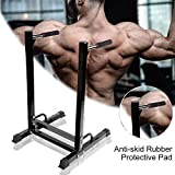 Zerodis Pull Up Bar Dip Stand, Durable Steel Dip Dipping Knee Raise Station Stand for Home Gym...