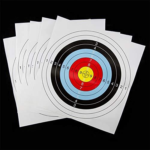 NO LOGO Lixia-Target, 1pc 41 * 41 prácticas de Tiro Durable de Las dianas de Tiro con Arco Precisa Prop Dardos de Papel de Atracciones Accesorios Ejercicio Arcos Ronda