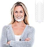 Innoo Tech - 10 visores de protección visual, color blanco y transparente, protección facial