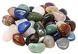 UDIG Edelsteine, Trommelsteine Mix, Glückssteine, 3-4cm große Halbedelsteine, Edelsteinmix à 28-45 Steine, Steinset 1kg