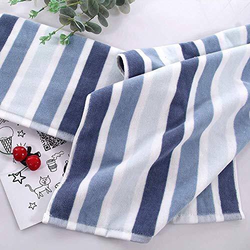 Cotton Cut Fleece Handdoek, volwassen mannen en vrouwen dikke zachte absorberende Face Wash handdoek, 2 stuks (Color : Blue)