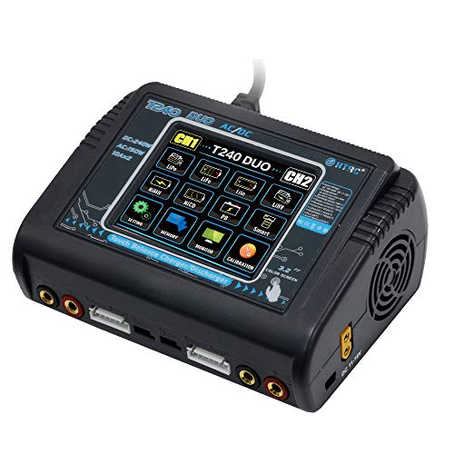XIANG HTRC T240 Duo AC 150W DC 240W 10A Touch Screen Dual Channel Battery Balance Charger Discharger for RC Toys U.S.Regulations