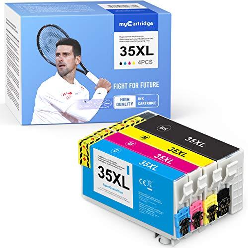 Mycartridge 4 cartucce compatibili per stampanti Epson 35XL T3591 T3592 T3593 T3594 per Epson Workforce Pro WF-4720DWF WF-4725DWF WF-4730DTWF WF-4730DWF WF-4740DTWF