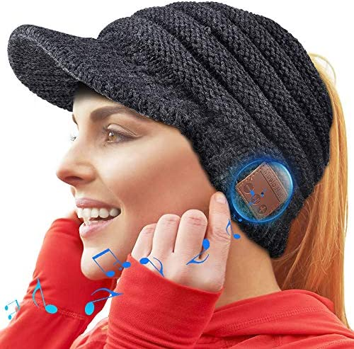 WINONLY Bluetooth Beanie Hat Upgraded Bluetooth 5 0 Beanie Hat Gift for Women Wireless Headphone product image