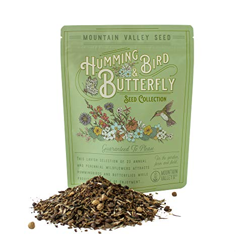 Package of 80,000 Wildflower Seeds - Hummingbird and Butterfly Wild Flower Seeds Collection - 23 Varieties of Pure Non-GMO Flower Seeds for Planting Including Milkweed, Nasturtium, and Forget Me Not