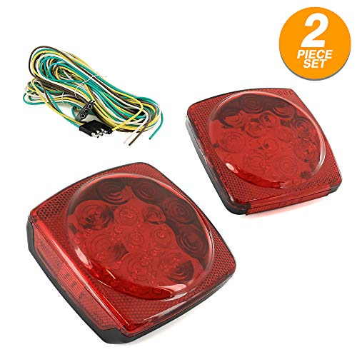 12V All LED Submersible Trailer Light Kit for Trailer and Truck (2 Pieces) - by RamPro