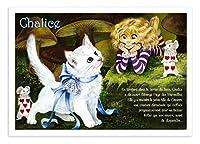 フランス製 キャットポストカード (Chalice) ふしぎの国のアリス CPK114