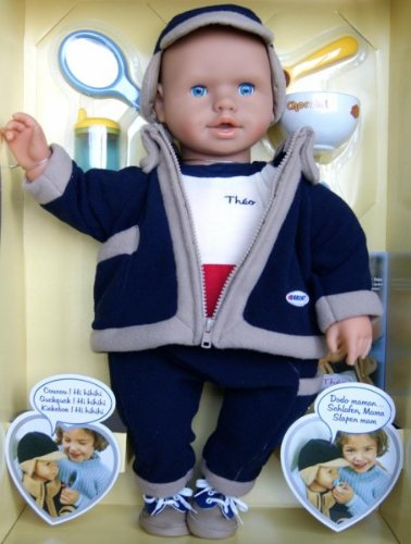 Berchet Funktionspuppe Baby Puppe 52cm Junge Theo