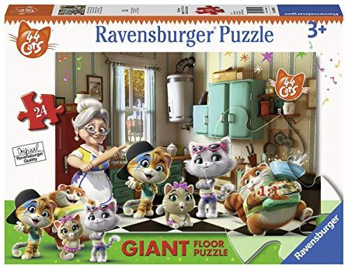 Ravensburger 03004 44 katten B puzzel, vloer, 24 delen