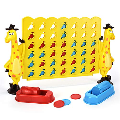 HHYSPA Four In A Row Game Giant Size, Connect Game, Premium Plastic 4-To-Score Giant Game Set For Kids and Adults