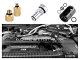 Haolight for Ford 6.0L Powerstroke Diesel High Pressure Oil Pump IPR Valve Air Test Fitting Tool and Adapters Leak Test Kit (Fuel Rail)&IPR Valve Socket with Seal Kit