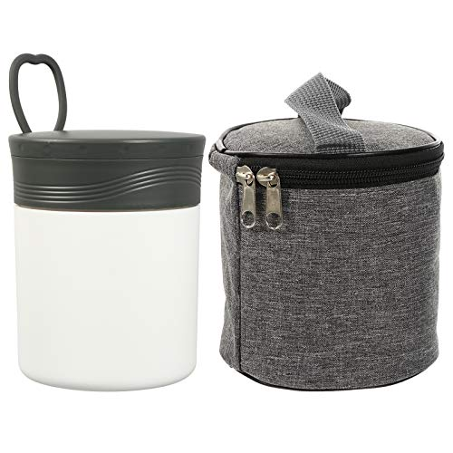 Cabilock Frasco de Alimentos con Aislamiento Al Vacío de Caja de Formentera Térmica Bento Recipiente para Alimentos con Bolsa de Almuerzo Recipientes para Tazas de Sopa para El Control de