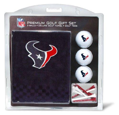 Team Golf NFL Houston Texans Gift Set Embroidered Golf Towel, 3 Golf Balls, and 14 Golf Tees 2-3/4