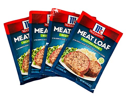 McCormick Meat Loaf Gluten Free Seasoning Mix Bundle of 4 Packets