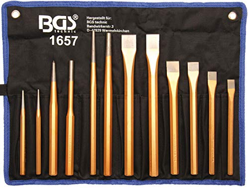 BGS 1657 | Juego de botadores/ cinceles/ granetes | 12 piezas