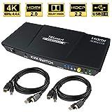 TESmart 2fach HDMI KVM Switch – 4K Ultra HD mit