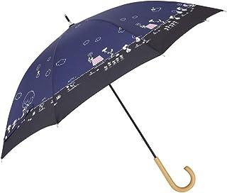 小川(Ogawa) 長傘 晴雨兼用日傘 手開き 50cm 8本骨 ピーナッツ スヌーピー リバティパーク UV加工 遮熱遮光加工 はっ水 裏面カラーコーティング 55546