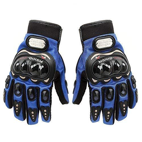 """SunFlower, kurze Motorradhandschuhe """"Pro-Biker"""" aus Leder L blau"""