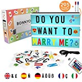 Caja de Luz A4 16 Colores con 295 Letras y Emojis,...