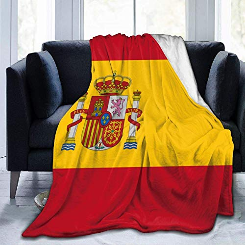 LOVE GIRL Manta Bandera de España Manta de Manta Manta de Terciopelo Ultra Suave Manta de Cama Ligera y cálida de Primera Calidad para sofá Cama Sala de Estar