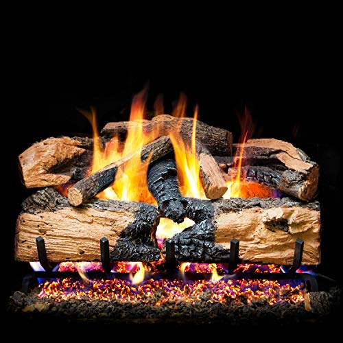 Best Price Peterson Real Fyre 18-Inch Charred Evergreen Split Oak Gas Log Set with Vented Natural Ga...