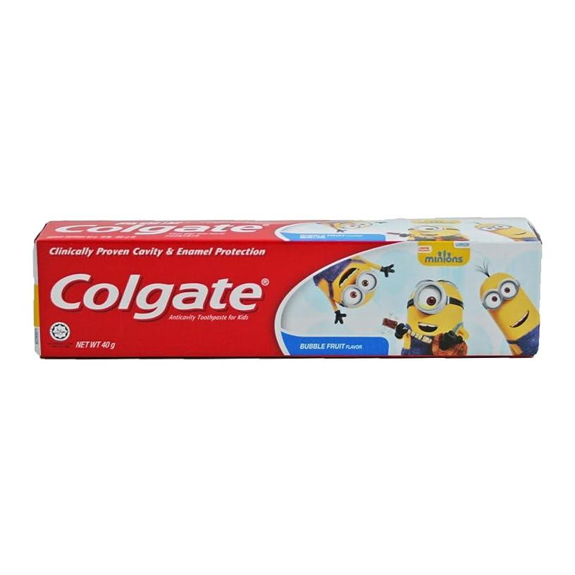 スキーおしゃれじゃないかみそりコルゲート Colgate 子供用 Kids-BUBBLE FRUIT FLAVOR (ミニオン, 40g) [並行輸入品]