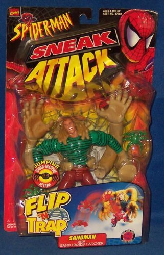 Spider-Man Sneak Attack Flip N' Trap Sandman Action Figure