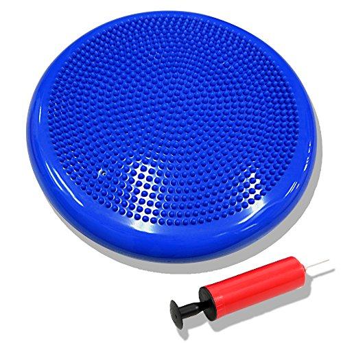 DABADA(ダバダ) バランスディスク バランスクッション 体幹クッション ポンプ付き (ブルー)