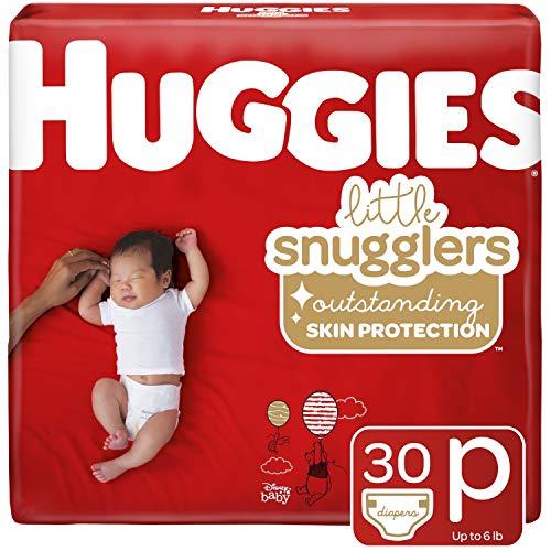 Huggies Little Snugglers Baby Diapers Size Preemie 30 Ct