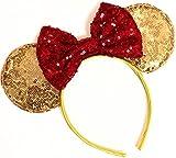 CLGIFT Beauty and the Beast Ears, Belle Ears, Belle Mickey Ears, Disney Inspired...