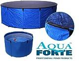 AquaForte Bac Flexi Bowl Pliable Diamètre 120x H 60, Bleu, Filet de Protection pour et Pochette Pratique