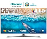 HISENSE H55U7BE Smart TV ULED Ultra HD 4K 55', Dolby Vision HDR, Dolby Atmos, Unibody Design, Ultra Dimming, Tuner DVB-T2/S2 HEVC Main10 [Esclusiva Amazon - 2019]