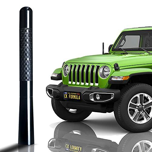 "CK FORMULA 4.7"" Black SUV Antenna - Carbon Fiber Screw Type Automotive Antenna Replacement, AM/FM Radio Compatibility, Aluminum and Internal Copper Coils, Car Wash Safe, Universal Fit, 1 Piece"