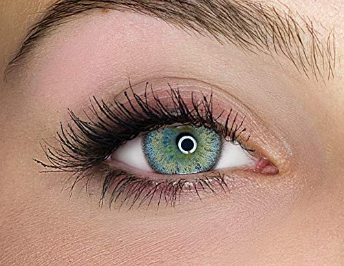 Kontaktlinsen farbig ohne Stärke farbige Jahreslinsen weiche Linsen soft Hydrogel 2 Stück Farblinsen + Linsenbehälter 0.0 Dioptrien natürliche Farben Serie Gleam Gray (grau)