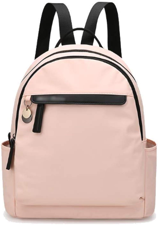 Eeayyygch Umhängetasche Damen-Rucksack-koreanische zufällige Mode-Persönlichkeits-Wilde Reise-Tasche Reise-Tasche Reise-Tasche einfache Tendenz-College-Art (Farbe   Rosa, Größe   Einheitsgröße) B07JMVYTFD 5b164d