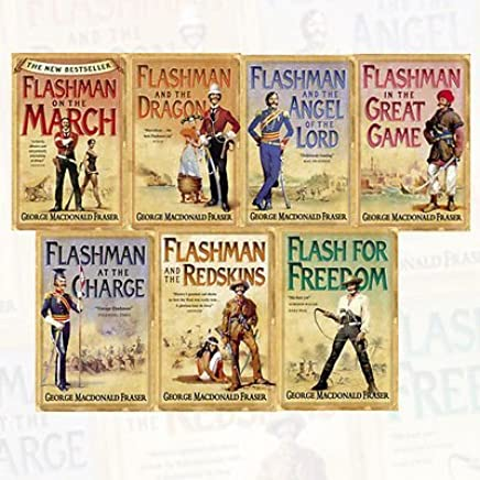 The Flashman Papers Series George MacDonald Fraser Collection 7 Books Bundle (Flashman on the March, Flashman and the Dragon, Flashman and the Angel of the Lord, Flashman in the Great Game, Flashman at the Charge, Flashman and the Redskins, Flash for Freedom!) by George MacDonald Fraser (2016-11-09)